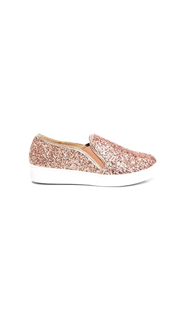 0147d7131464 Ikrush Womens Alex Slip On Chunky Glitter Trainers Rose Gold UK 3:  Amazon.co.uk: Shoes & Bags