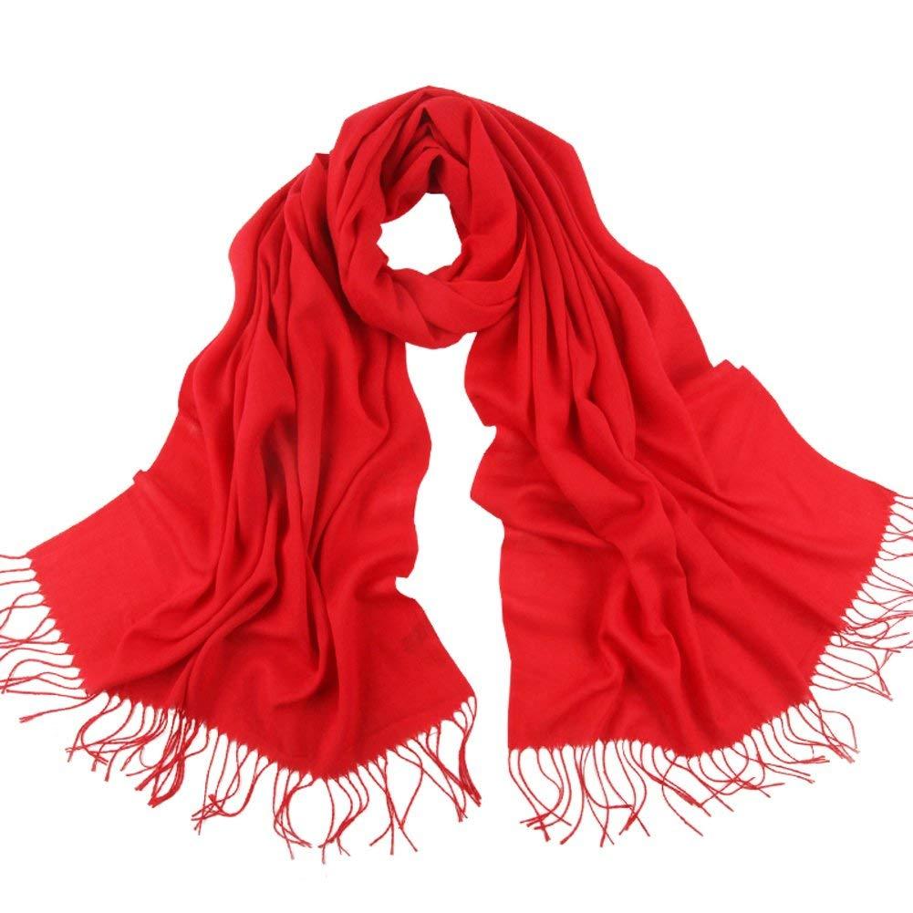 I Zhuyuanhai Scarf Lady winter winter shawls Thick warm Su dualse a solid color scarf