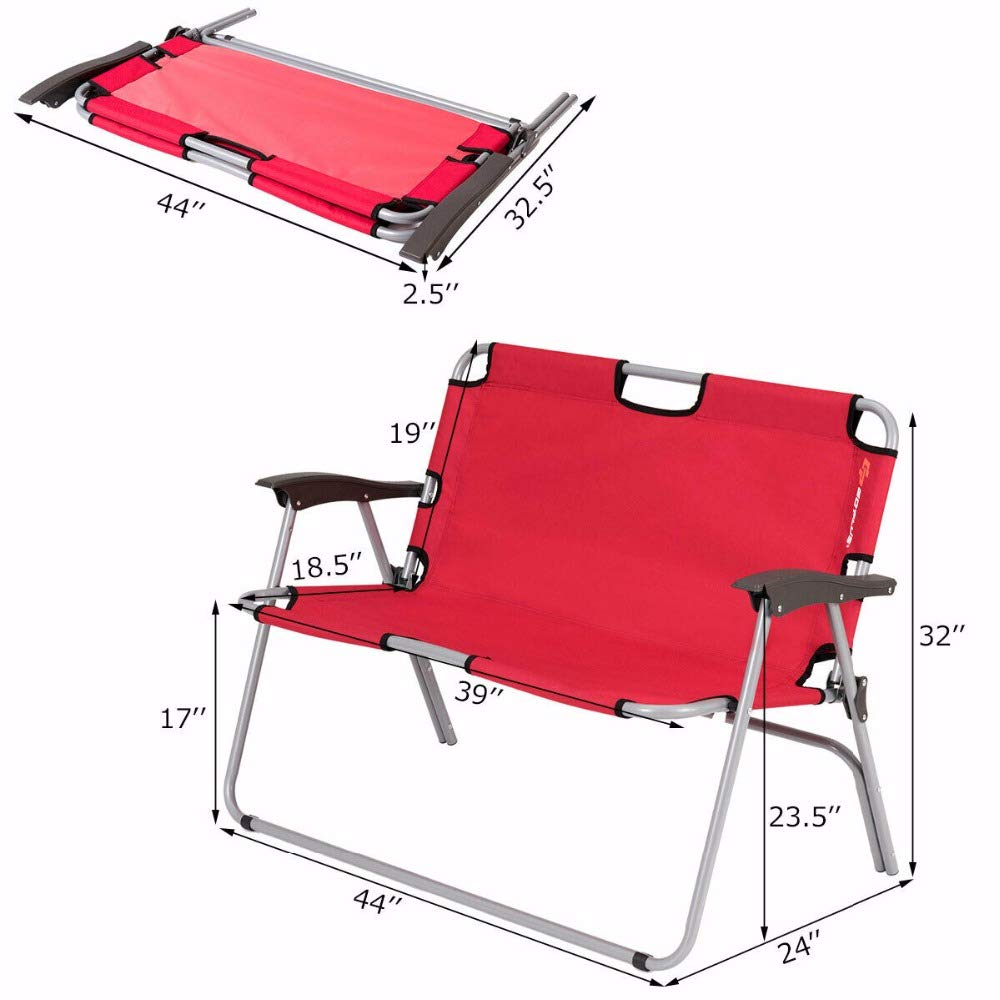 Excellent Amazon Com Cameagle Camping Chair 2 Person Folding Camping Bralicious Painted Fabric Chair Ideas Braliciousco
