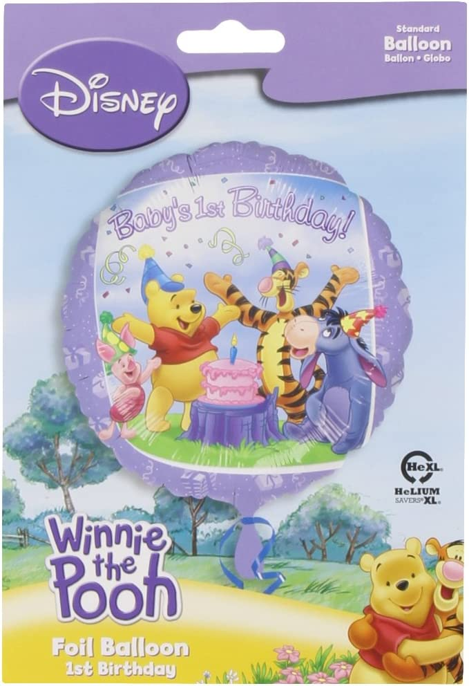Anagram Disney Winnie the Pooh 1st Birthday Balloon