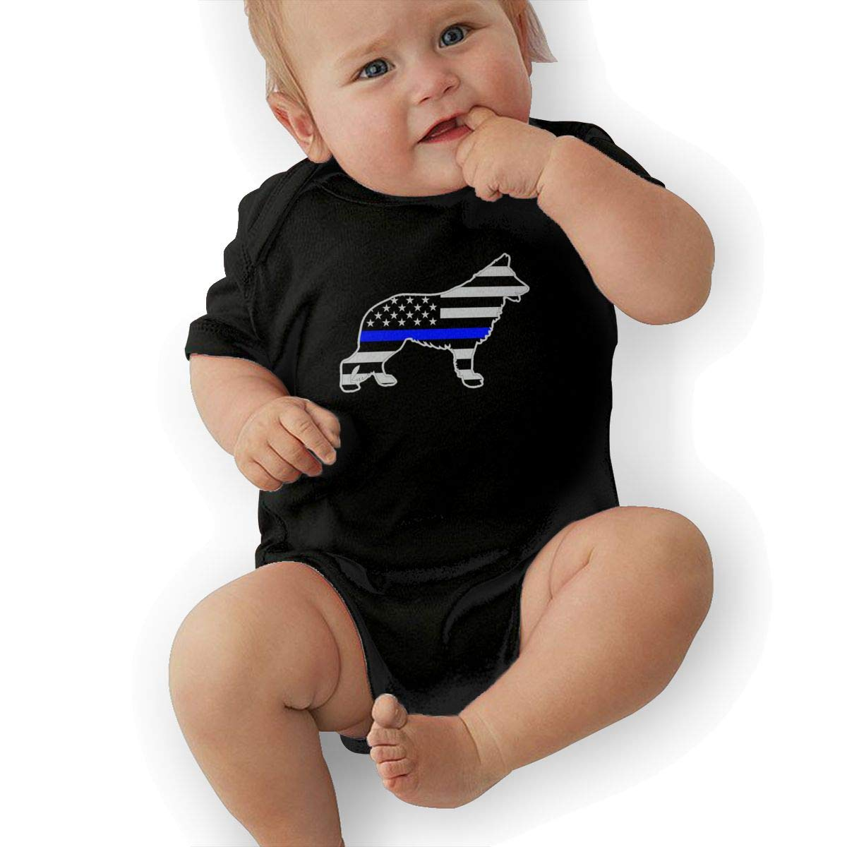 Bodysuits Clothes Onesies Jumpsuits Outfits Black German Shepard Silhouette K9 Blue Line American Flag Baby Pajamas