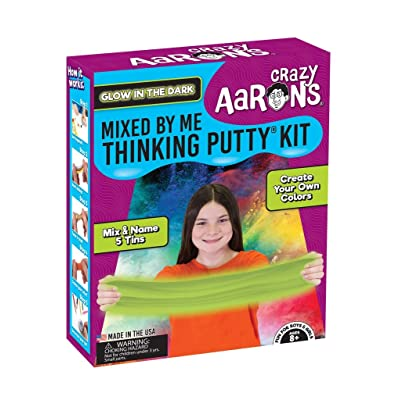 Crazy Aaron's Thinking Putty for Kids - DIY Special Effects Putty Kit (6 Putties Included)- Glow-In-The-Dark, Sparkle, Heat-Sensitive - Includes Colored Pencils and Instructional Mat - Never Dries Out: Toys & Games
