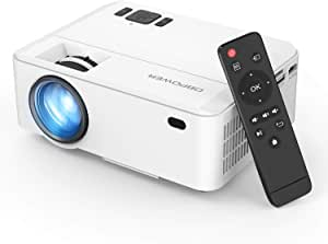 Projector, Upgraded DBPOWER Mini Video Projector, Multimedia Home Theater Video Projector Supporting 1080P, HDMI, USB, VGA, AV for Home Cinema, TVs, Laptops, Games, Smartphones