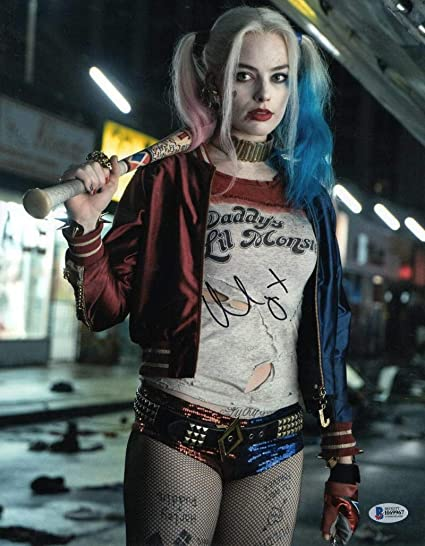 Hot Sexy Margot Robbie Signed 11x14 Photo Harley Quinn Autograph