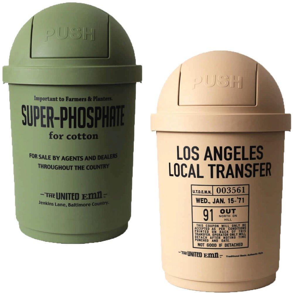35L DUSTBIN 全8色の中から選べる2個セット ゴミ箱 ごみ箱 ダストボックス ふた付き おしゃれ ジェニーズトレーディング (オリーブ×ベージュ) B075NF2C5J オリーブ×ベージュ オリーブ×ベージュ