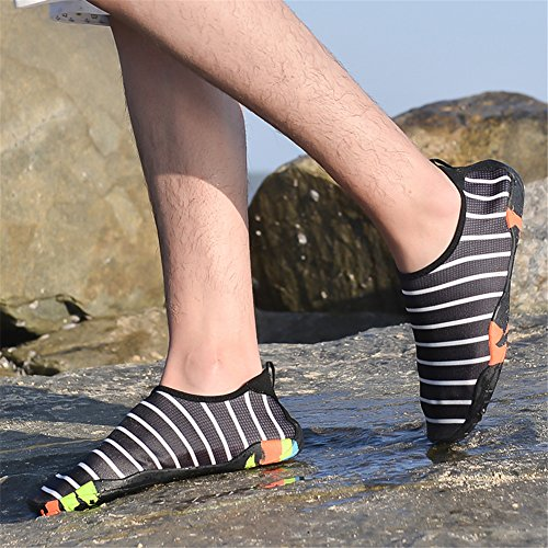 Nero Yoga Scarpette Spiaggia 34 Sport 2 Uomo Donna Surf Beach Accogliente Scarpe Acquatici Estate Shoes 47eu Luce Aqua Per Da Immersione Swim wqgRSW4