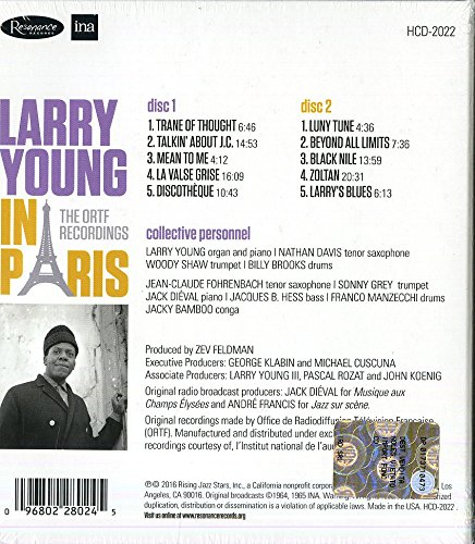 Larry Young In Paris The Ortf Recordings 2 Cddeluxe Edition