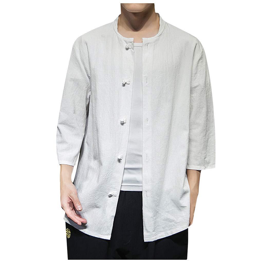 Men's Casual 3/4 Sleeve Baseball Tshirt Raglan Jersey Shirt by Ghazzi Men Top