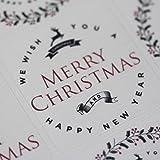 Cream Christmas Reindeer Sticker Sheet - Advent Xmas Craft x35