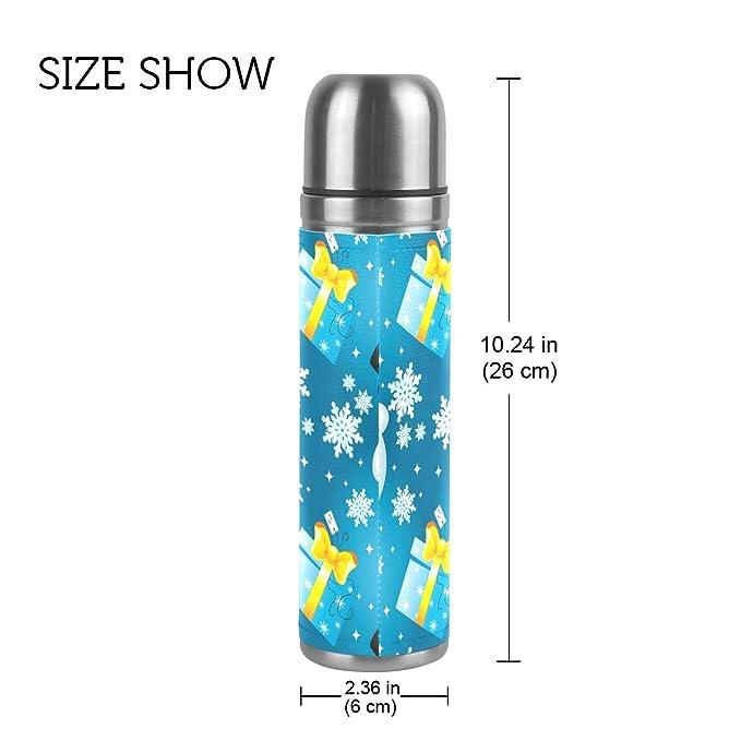 ISAOA Botella de Agua con diseño de muñeco de Nieve y ...