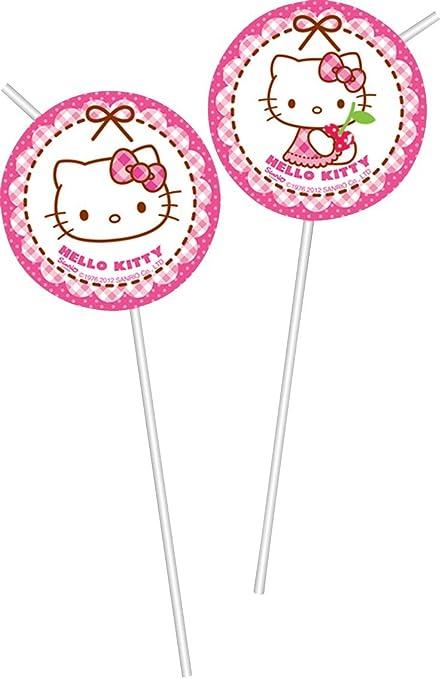 Procos - Pack de 6 pajitas Hello Kitty, decoración ...