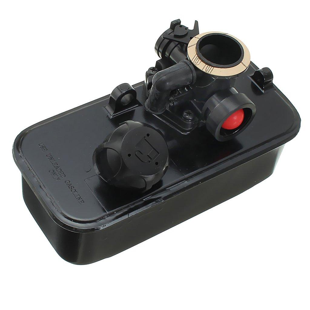 FLAMEER Carburateur R/éservoir de Gaz Tondeuses Carburant pour Briggs /& Stratton 499809 494406