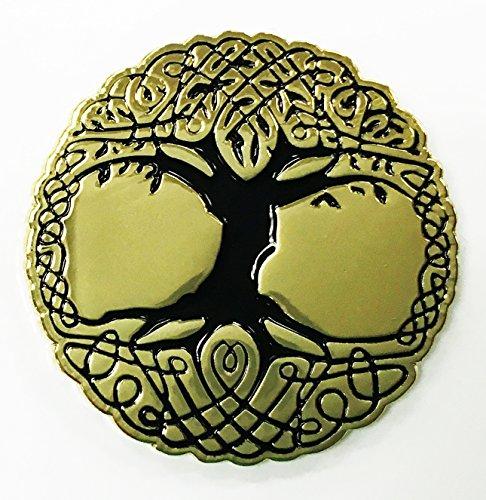 The Sacred Tree of Life Gold Enamel Lapel Pin - Life Lapel Pin