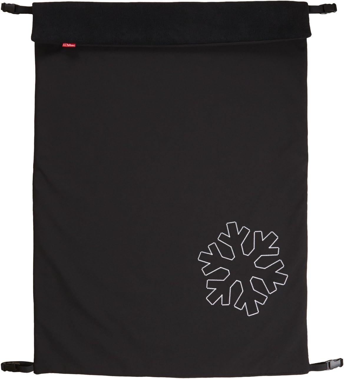 byboom Softshell techo 70x 100cm Thermo activo;–/multifunción universal para/de exterior Baby manta para cochecito, Buggy, Jogger, color: negro/negro