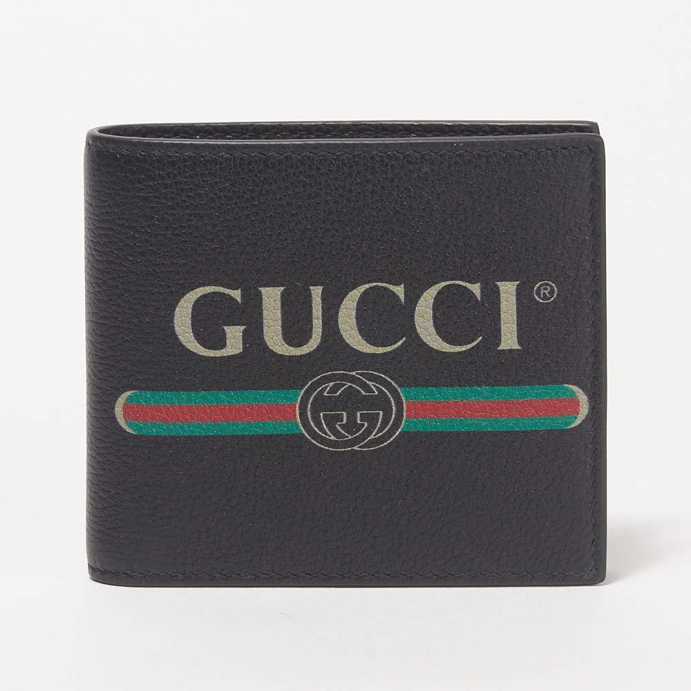 [グッチ] GUCCI 折財布 メンズ 496316 0GCAT 8163 二つ折り ヴィンテージロゴ 財布 レザー [並行輸入品] B07NCXSX2C ブラック(8163)