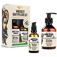 Whiskey Bartpflege Set · Brooklyn Soap Company · Geschenkset für Männer inkl. Bartöl & Bartshampoo mit feinsten Whiskey-Duftnoten ✓