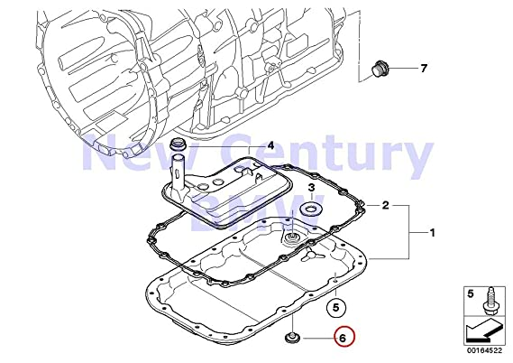 Amazon Com Bmw Genuine Ga6l45r Oil Pan Oil Drain Plug 128i X3 3 0i