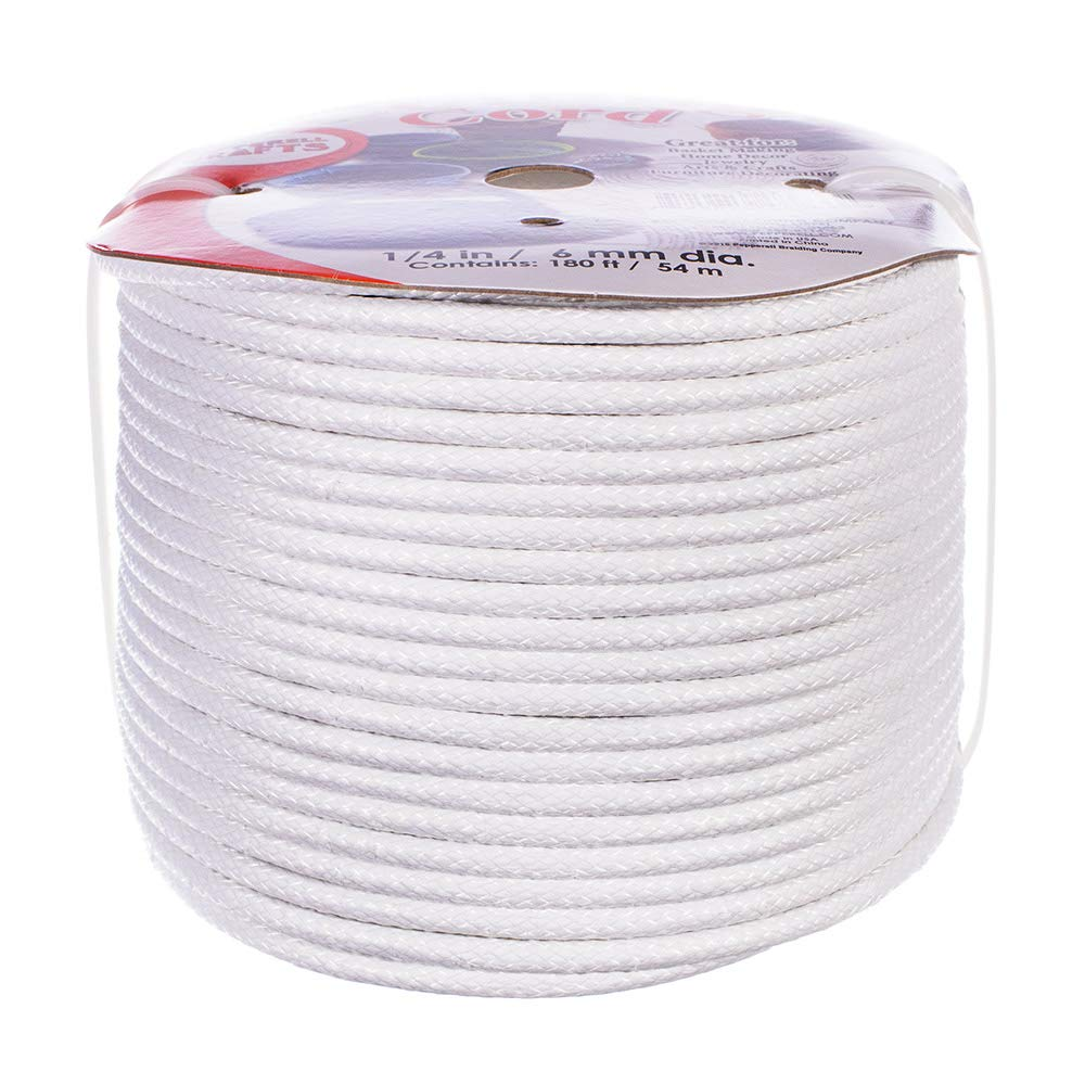 1/4 Inch (6.35 MM) Coiling Cord, 180 Feet (54.9 M) by Craft County