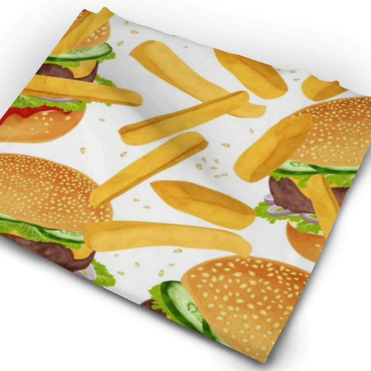Hamburger Fries Unisex Fashion Quick-Drying Microfiber Headdress Outdoor Magic Scarf Neck Neck Scarf Hooded Scarf Super Soft Handle