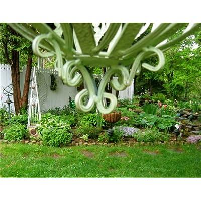 UD Sm. Hanging Basket Mint Green Basket Weave Latticed Top: Garden & Outdoor