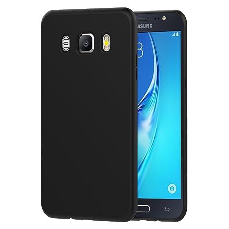 iVoler Funda Carcasa Gel Negro Compatible con Samsung Galaxy J5 2016, Ultra Fina 0,33mm, Silicona TPU de Alta Resistencia y Flexibilidad