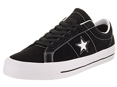 a7eba9887f6b Image Unavailable. Image not available for. Color  Converse Unisex One Star  Pro Ox Black White White Skate Shoe 10 Men US
