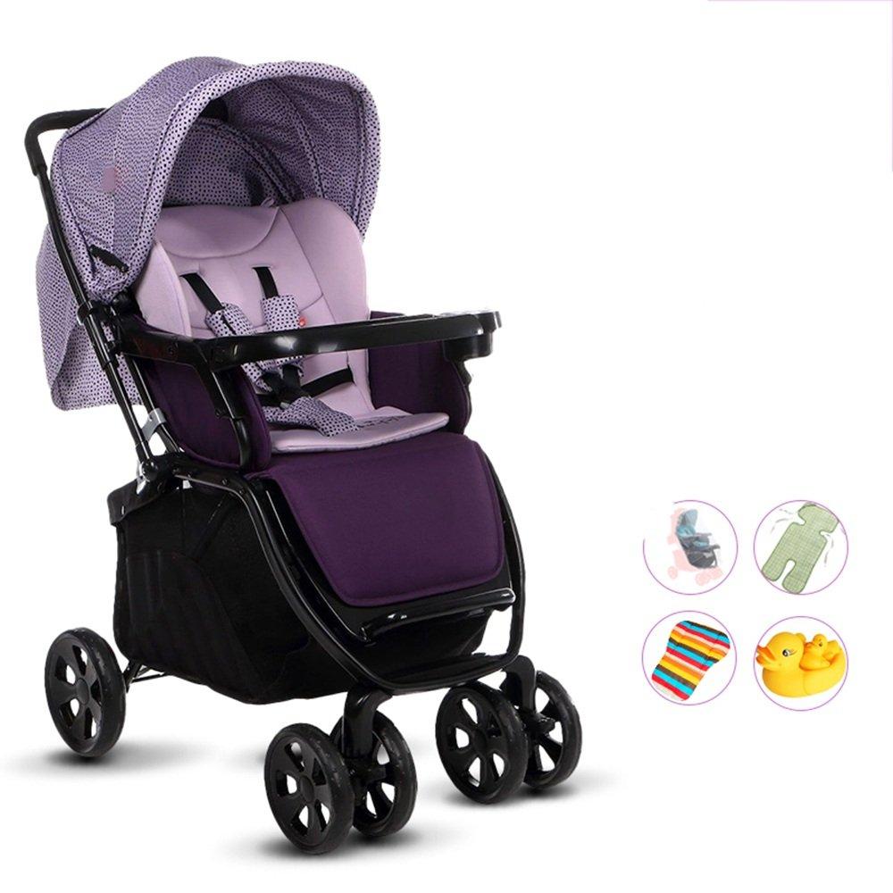 HAIZHEN マウンテンバイク 赤ちゃんのベビーカー、軽量折りたたみ四輪車、サスペンション、座ることができ、嘘つき、半ライクラコットンの日よけ 新生児 B07C6QWR56 B3 B3