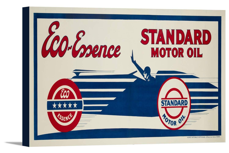 標準モーターオイル – Eco – Essenceヴィンテージポスター(アーティスト: Kow )フランスC。1930 36 x 16 3/8 Gallery Canvas LANT-3P-SC-64187-24x36 36 x 16 3/8 Gallery Canvas  B0184B4TYO