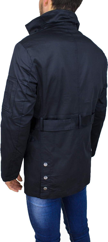 spiegare morbosità consonante  Evoga Trench Giubbotto Uomo Primavera Estate Blu Scuro Giubbino Casual  Elegante in Cotone Cappotti Abbigliamento