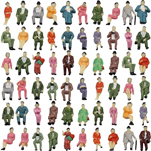 (Evemodel P87S 60pcs all Seated 1:87 Painted Figures Passenger HO)
