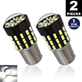 LUYED 2 x 650Lumens Super Bright 1156 3014 54-EX Chipsets 1156 1141 1003 7506 LED Bulbs Used For Back Up Reverse Lights,Brake Lights,Tail Lights,Rv lights,Xenon White