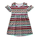 ✿: Description:  ✿:  ✿: Material:Polyester  ✿: Style: Fashion  ✿: Gender: Girls  ✿: Sleeve Style: Regular  ✿: Decoration:None  ✿: Dresses Length:Knee-Length  ✿: Silhouette: A-Line  ✿: Pattern Type:Print  ✿: Collar:O-neck  ✿: Clothing Length:...