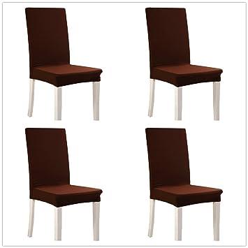 Walkec Fundas para sillas Pack de 4 Fundas sillas Comedor Fundas elásticas, Cubiertas para sillas