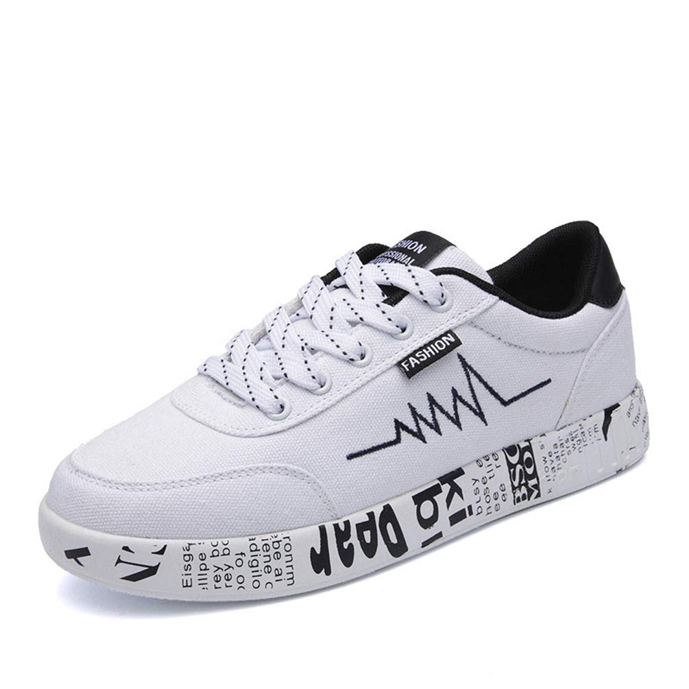 White T-JULY Spring Summer Women Casual Breathable shoes Canvas Sneakers Graffiti Ladies shoes