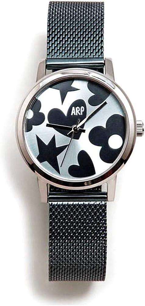 Agatha Ruiz de la Prada Reloj para Mujer Analógico Cuarzo japonés con Correa de Acero Inoxidable AGR250