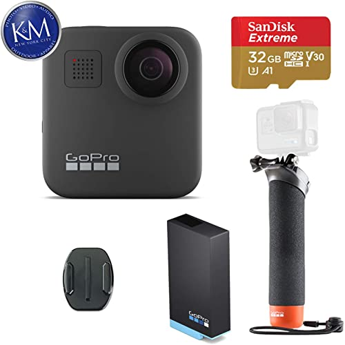GoPro MAX 360 Action Camera w GoPro The Handler Floating Hand Grip and 32GB Memory Card