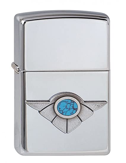 Zippo Winged Turquoise 1310059