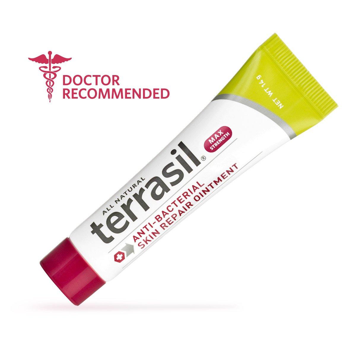 Antibacterial Skin Repair MAX 3X Faster Dr. Recommended 100% Guaranteed All Natural Fissures Folliculitis Angular Cheilitis Impetigo Chilblains Lichen Sclerosus Boils Cellulitis by Terrasil®
