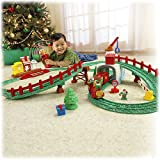 GeoTrax North Pole Express Christmas Train Playset