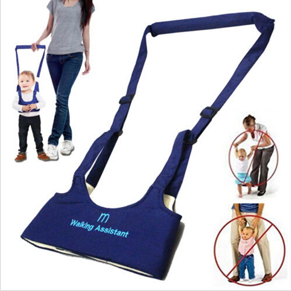 Baby Toddler Learn to Walk Walking Harness Aid Assistant Safety Rein Train Walking Protective Belt Blue