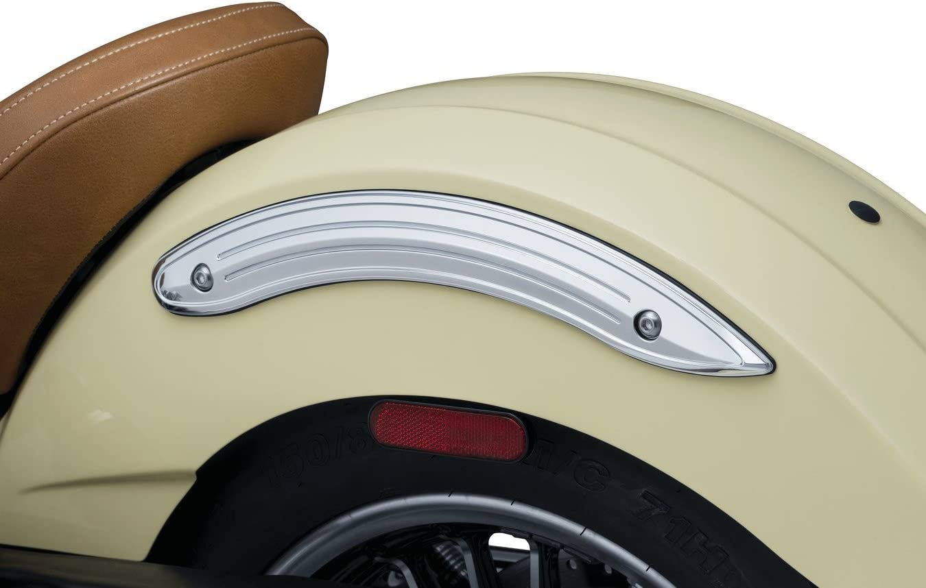 1 Pair Legacy Rear Fender Side Accents for 2015-19 Indian Scout Motorcycles Kuryakyn 8922 Motorcycle Accent Accessory Chrome