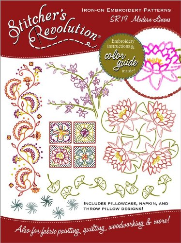 (Stitcher's Revolution Iron-On Transfer Pattern for Embroidery, Modern Linens)