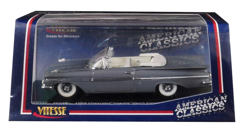 1959年式 シボレー インパラ オープンコンバーチブル グレシアングレー 1/43ダイキャストモデルカー Vitesse 36229 B07JKBCFGD