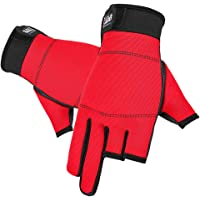 freneci Balık tutma eldiveni Thermal 3 Cut parmak eldiveni bisiklet fotoğrafçılığı üzerinde avcılık için
