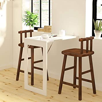 Amazon.com: Folding Dining Table Wall-Mounted Fold Up Table ...