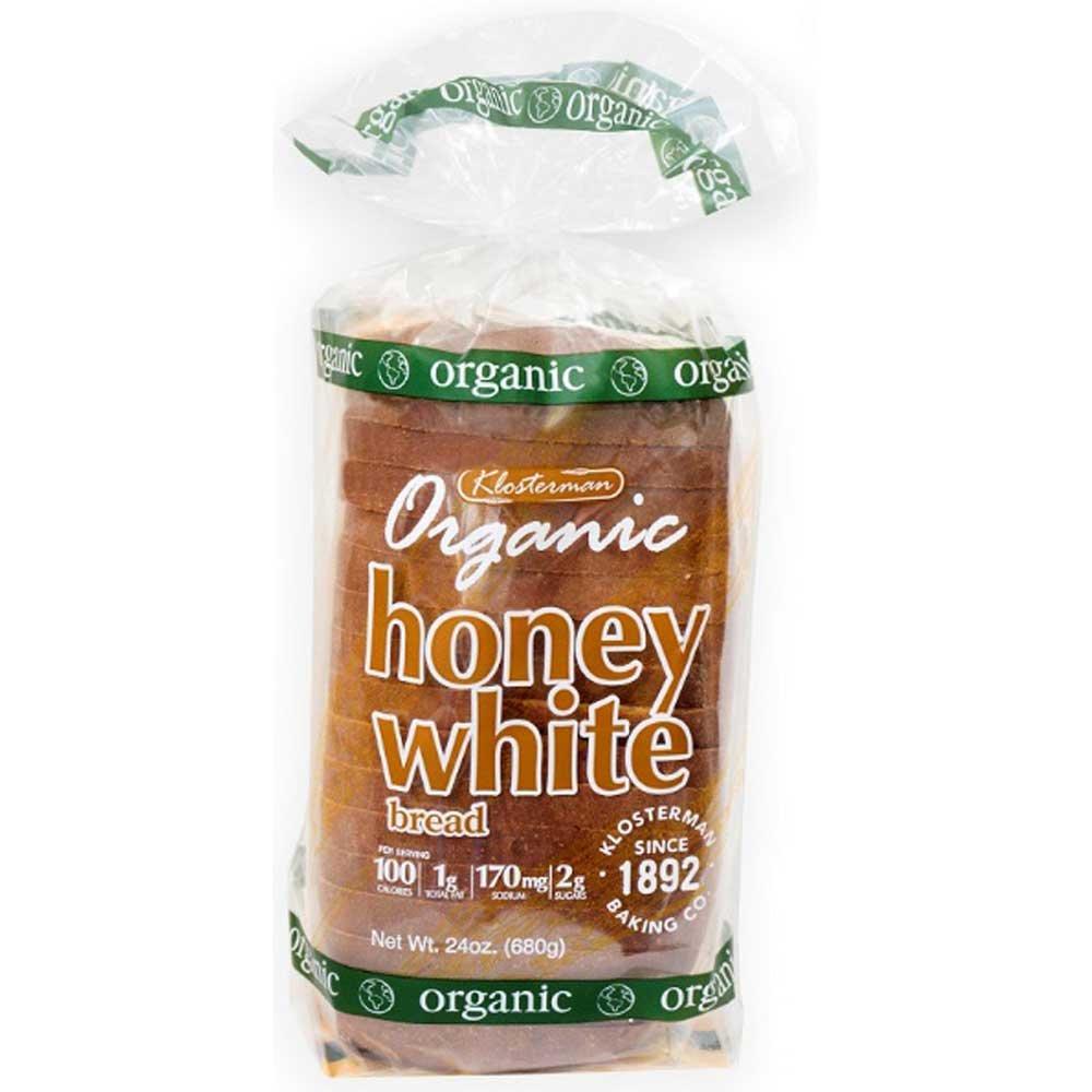 Klosterman Organic Honey White Bread Loaves, 24 Ounce -- 10 per case.