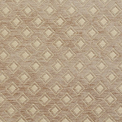 B0840C Taupe Woven Small Diamonds Chenille Upholstery Fabric By The (High End Upholstery)