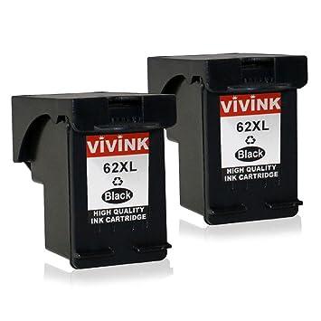 VIVINK Remanufacturado HP 62 62XL Cartuchos Compatible con ...