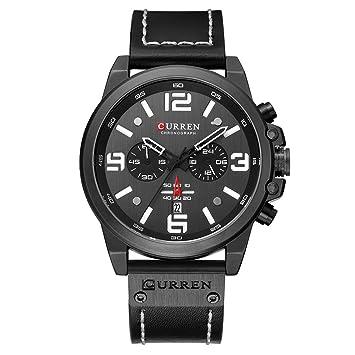 Amazon.com: Curren Watch for Men Mens Business Belt Watch ...