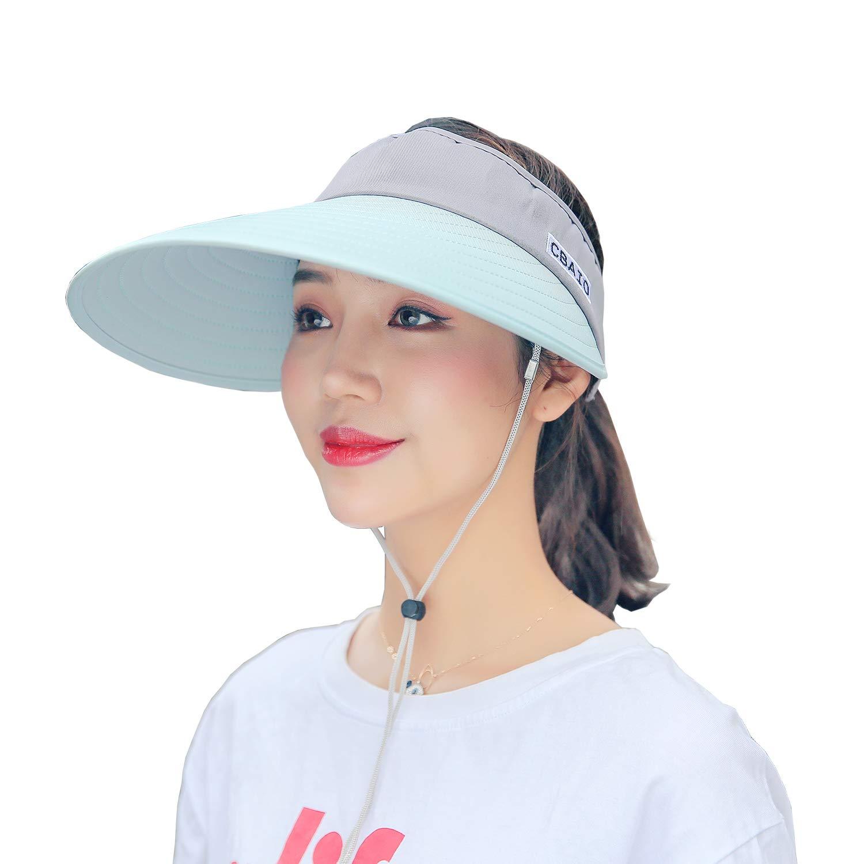 Agreen & Grey FADA Sun Hats Women Wide Brim Visor UV Predection Packable Summer Beach Caps